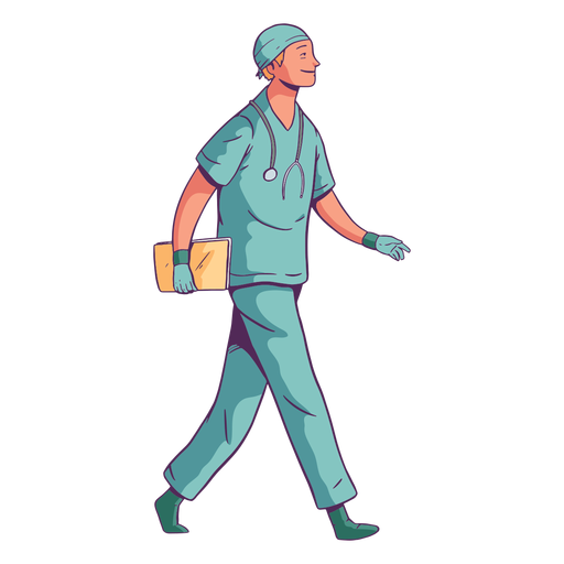 Character smile walking doctor Transparent PNG
