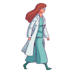 Character walking doctor