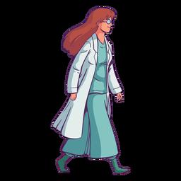 Charakter gehender Arzt