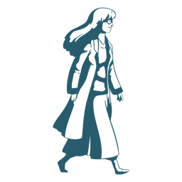 Carácter caminando doctor duotono