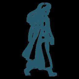 Character walking doctor duotone