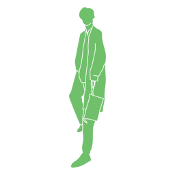Silueta de bolso de hombre elegante