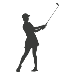 Cool golf swing silhouette