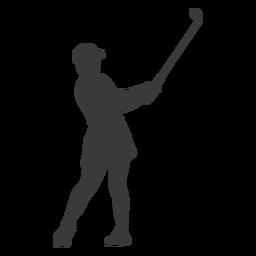 Silhueta de balanço de golfe legal