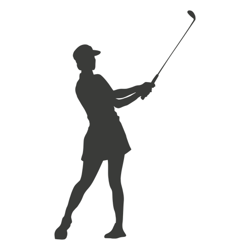 Cool golf swing silhouette Transparent PNG