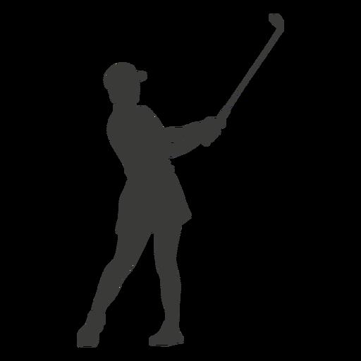 Cool golf swing silhouette