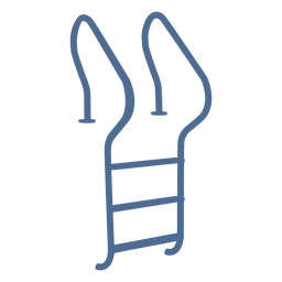 Cool ladder silhouette