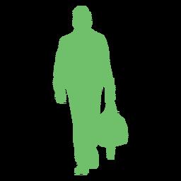Cool hombre bolso silueta