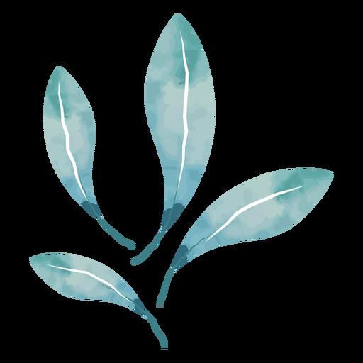 Cool watercolor leaves