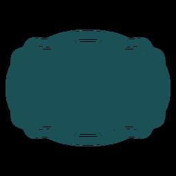 Etiqueta rectangular curvada