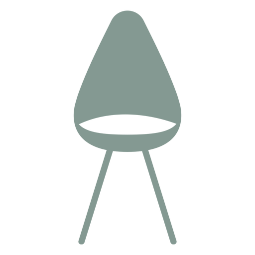 Cute chair silhouette Transparent PNG