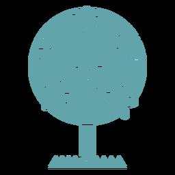 Cute flowers silhouette tree