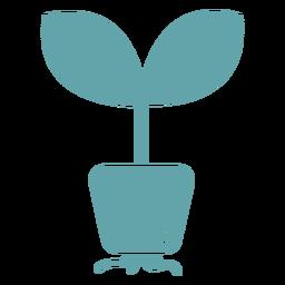 Silhueta fofa de raízes de plantas