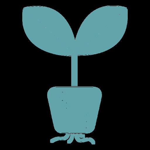 Cute plant roots silhouette Transparent PNG