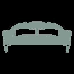 Silueta de muebles de sofá lindo