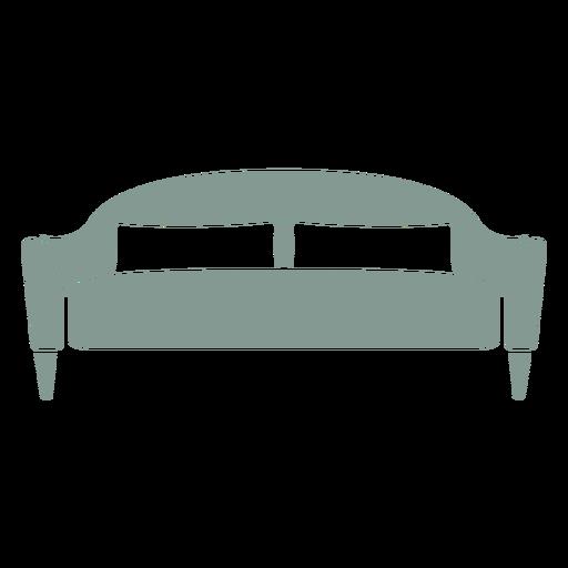 Silhueta de mobília de sofá fofa