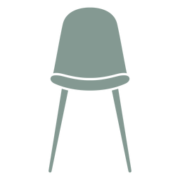 Cute stool furniture silhouette
