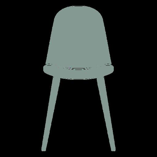 Silhueta de mobília de banquinho fofa