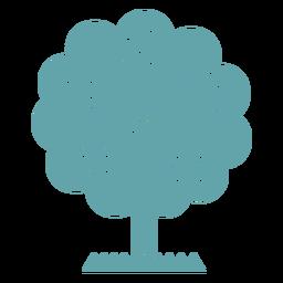 Cute tree flowers silhouette