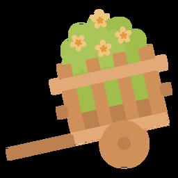 Nette Schubkarre Pflanze