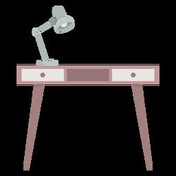 Schreibtisch mit Lampe farbig
