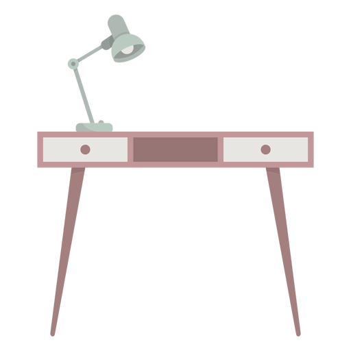Desk with lamp colored Transparent PNG