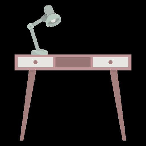 Mesa com luminária colorida