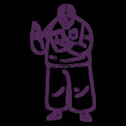 Doctor dibujado a mano simple