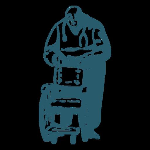 Doctor holding silla de ruedas Transparent PNG