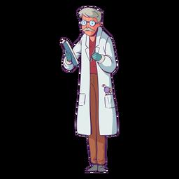 Doctor ilustración dulces en el bolsillo