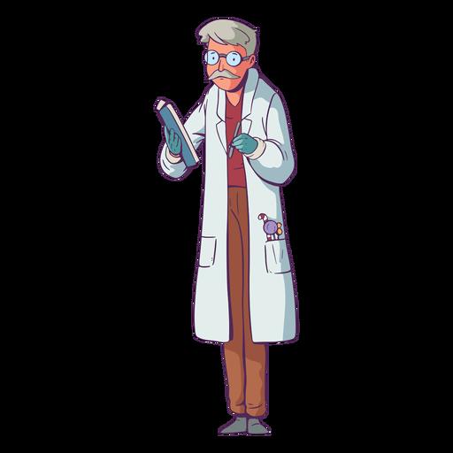 Doctor illustration candies on pocket Transparent PNG