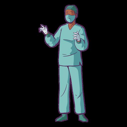Doctor illustration surgery