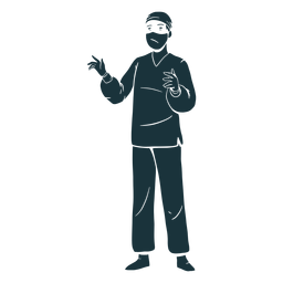 Doctor silhouette surgery