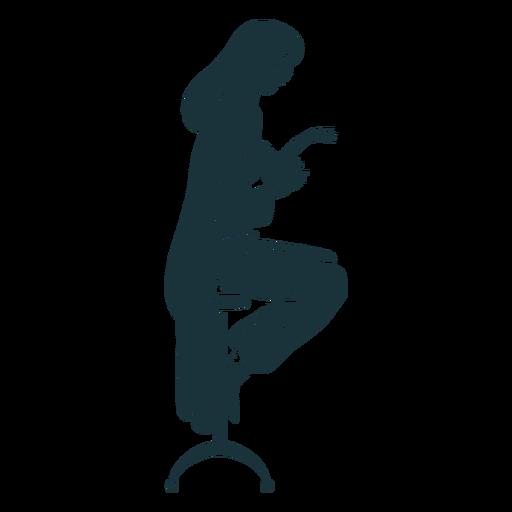 Doctor sentado en taburete silueta