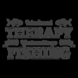 Não precisa de terapia de pesca