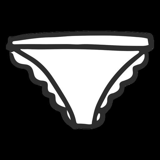 Doodle panty simple Transparent PNG