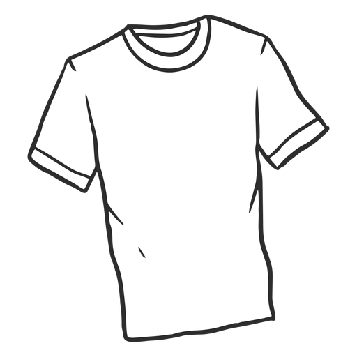 Doodle tshirt simple Transparent PNG