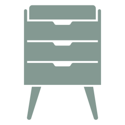 Drawer cabinet furniture silhouette