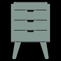 Muebles de cajones silueta
