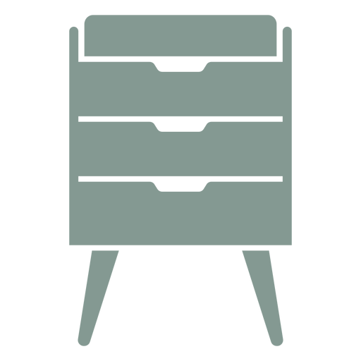 Silueta de muebles de gabinete de cajón