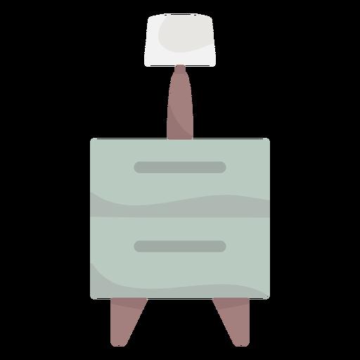 Cajones con lámpara de color