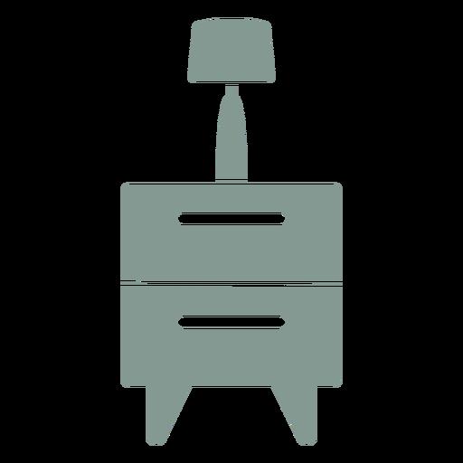 Cajones con silueta de lámpara