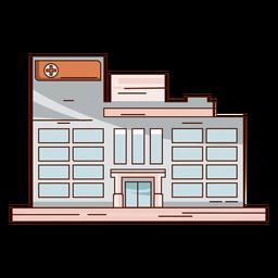 Edificio hospital dibujado