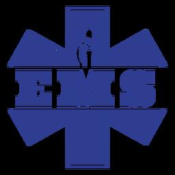 Distintivo de serviços médicos de emergência