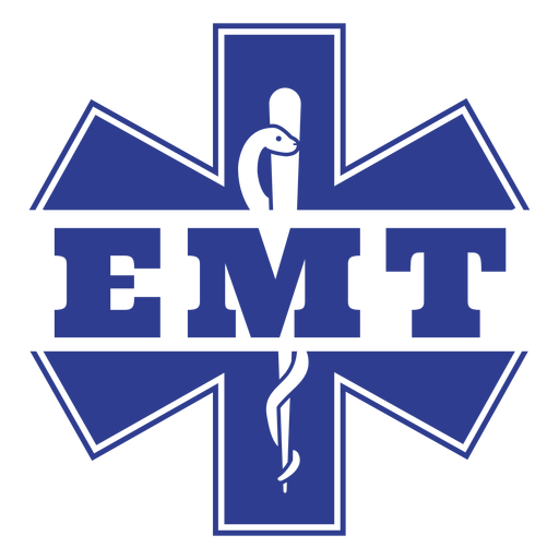 Emergency medical technician badge first responders Transparent PNG