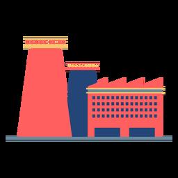 Edifício da fábrica colorido
