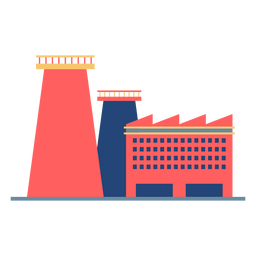 Factory building colored