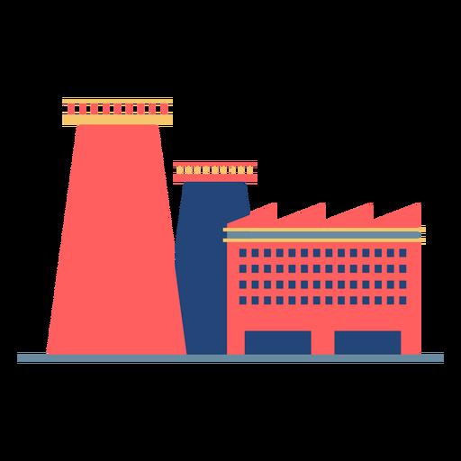 Factory building colored Transparent PNG