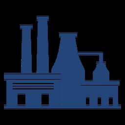Edificios de fábrica silueta simple