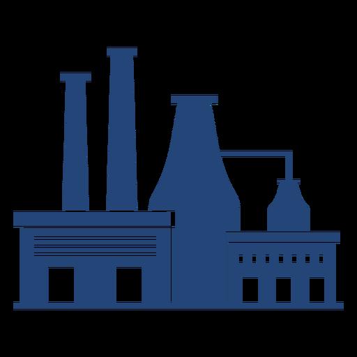 Factory buildings simple silhouette